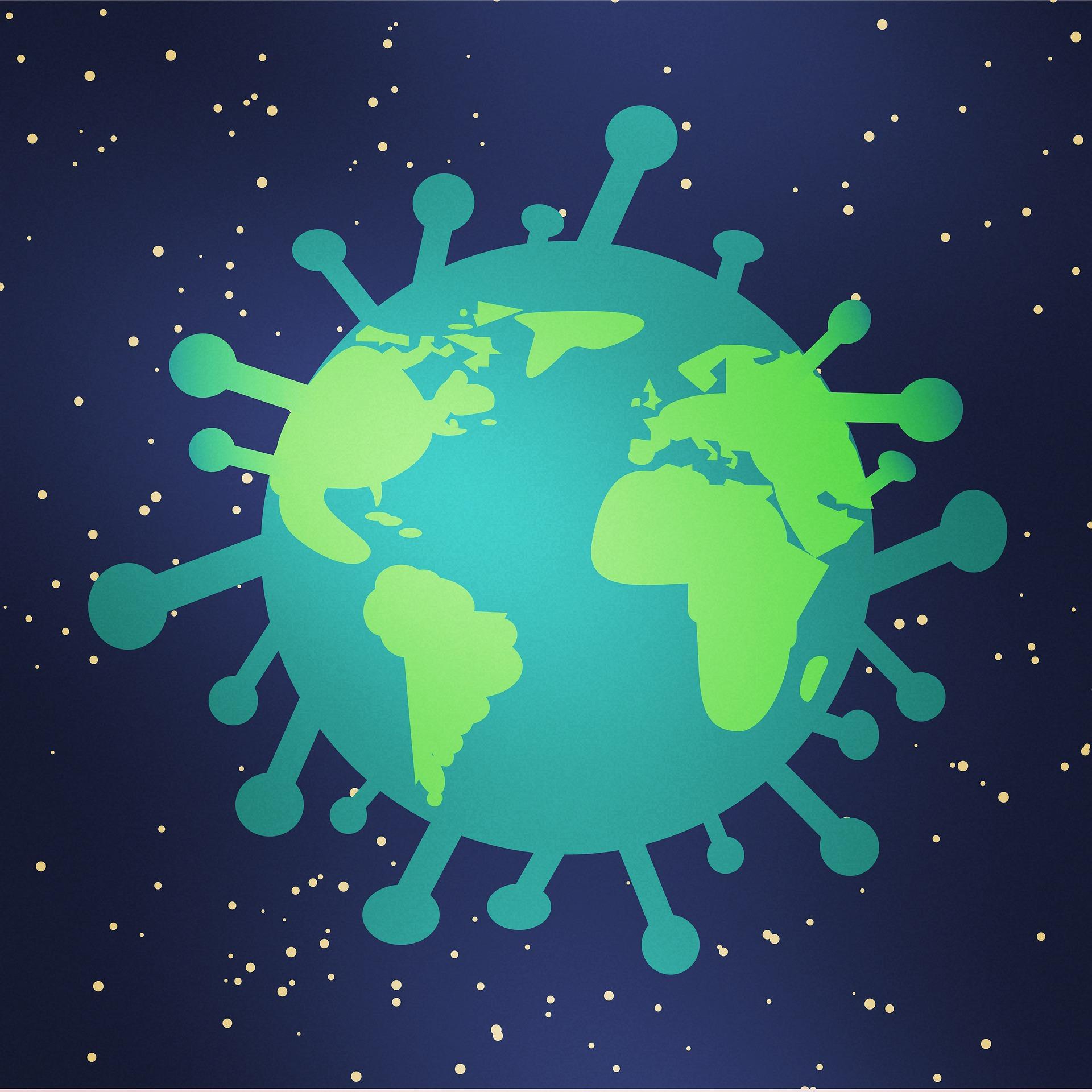 covid 2019 world planet